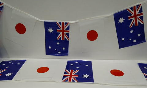 Australia and Japan Alternating 4m String Country Flags