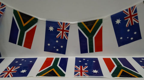 Australia and South Africa Alternating String Country Flags