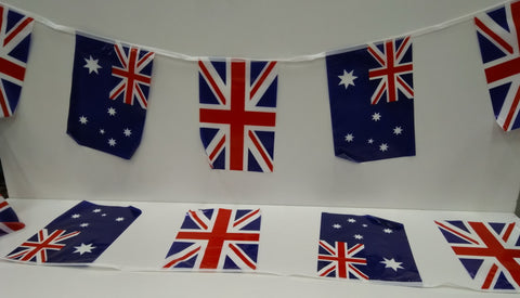 Australia and United Kingdom Alternating String Country Flags