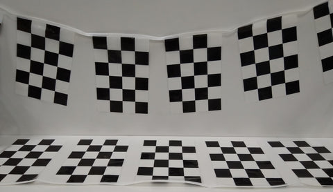 Motor Racing Check String Flags