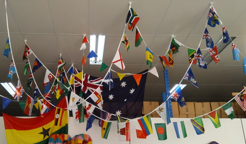 Commonwealth Games Countries string flags 25m