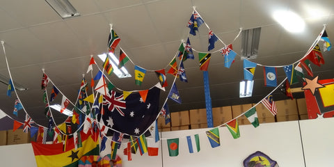 Commonwealth Games Countries string flags