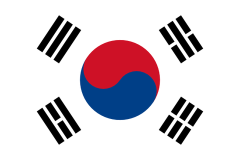 South Korea Waver Flag