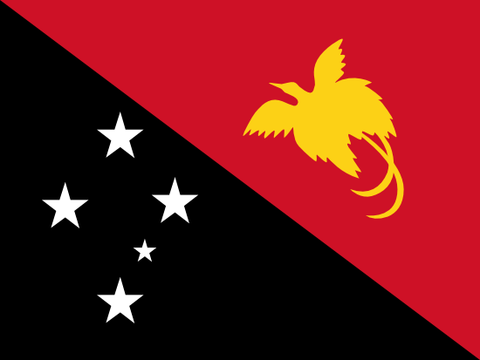 Papua New Guinea Waver Flag