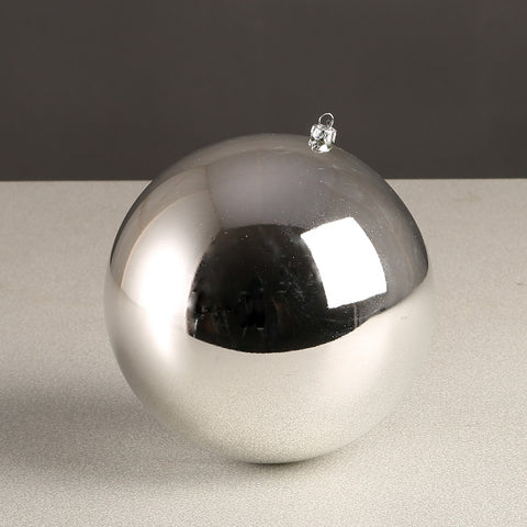 Silver Glossy Bauble 200mm