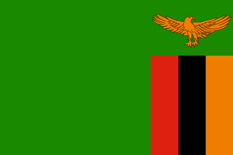 Zambia Waver Flag