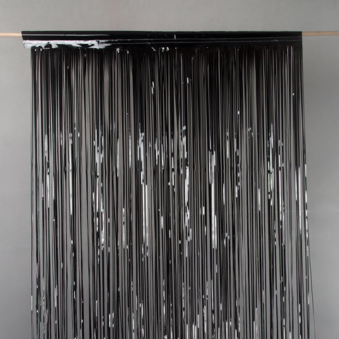 black door tinsel 2m drop 90cm wide