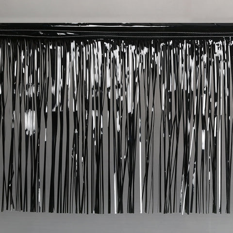 black fringe tinsel 50cm drop 2.5m wide