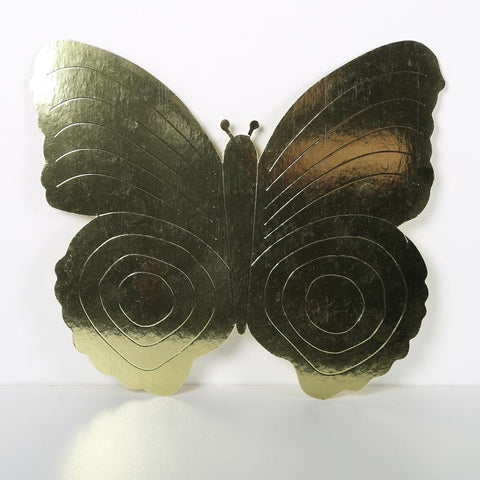 3 Pack 26cm Butterfly Gold
