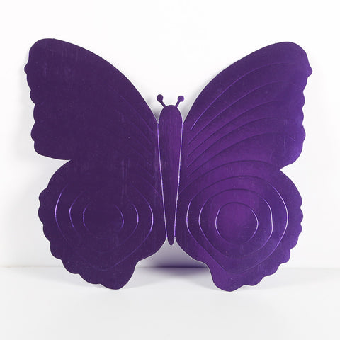 3 Pack 26cm Butterfly Purple