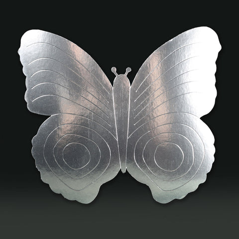 3 Pack 26cm Butterfly Silver