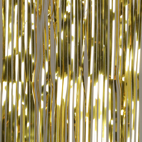 gold door tinsel 2m drop 90cm wide