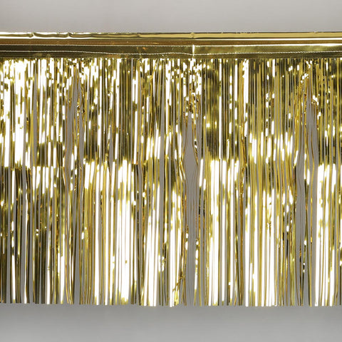 gold fringe tinsel 50cm drop 2.5m wide