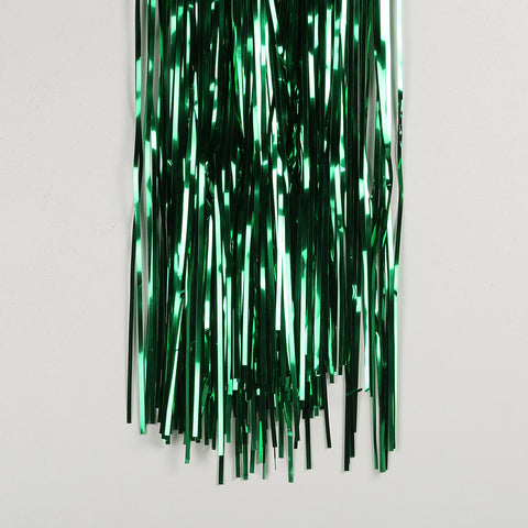 green tinsel curtain 2.5m drop 50cm wide