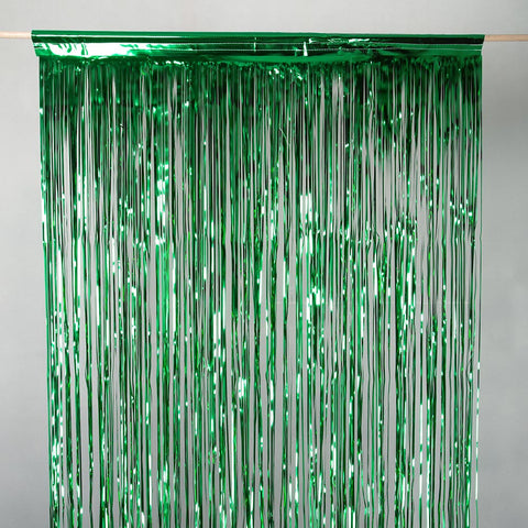 Green Metallic Wall Curtain 2.5m Drop x 50cm wide