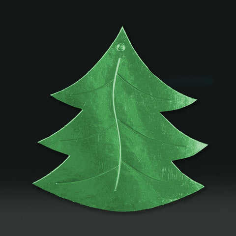 6 Pack 11cm Foilboard Christmas Tree Green