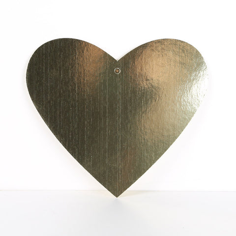 3 Pack 30cm Foilboard Heart Gold