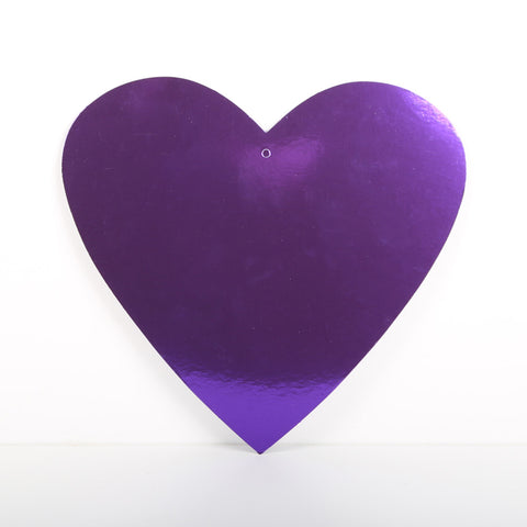 3 Pack 30cm Foilboard Heart Purple