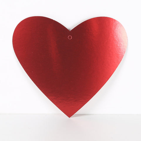 3 Pack 30cm Foilboard Heart Red