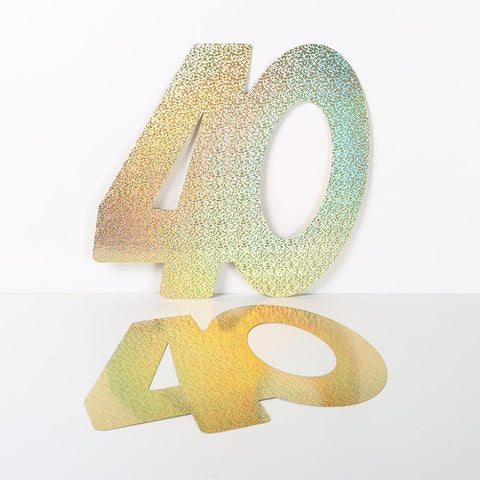 3 Pack 14cm Foilboard Holographic Gold 40