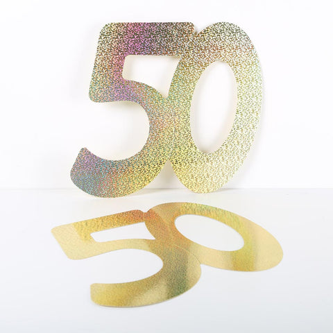 3 Pack 14cm Foilboard Holographic Gold 50