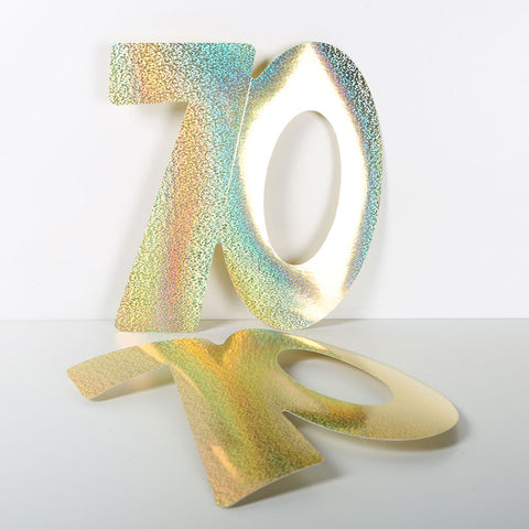 3 Pack 14cm Foilboard Holographic Gold 70