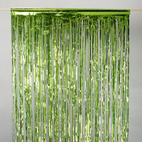 lime door tinsel 2m drop 90cm wide