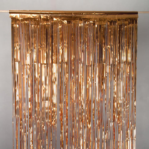copperorange door tinsel 2m drop 90cm wide