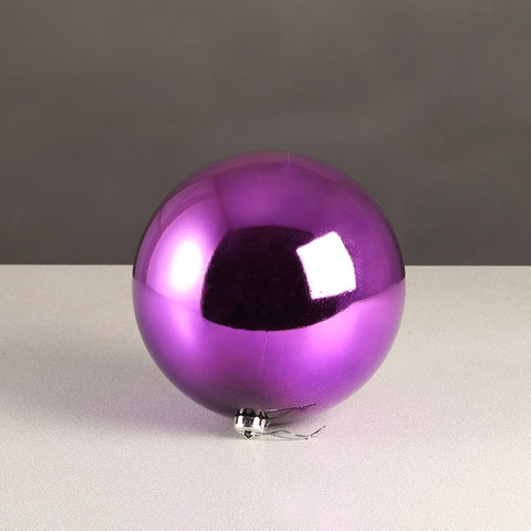Purple Glossy Bauble 100mm