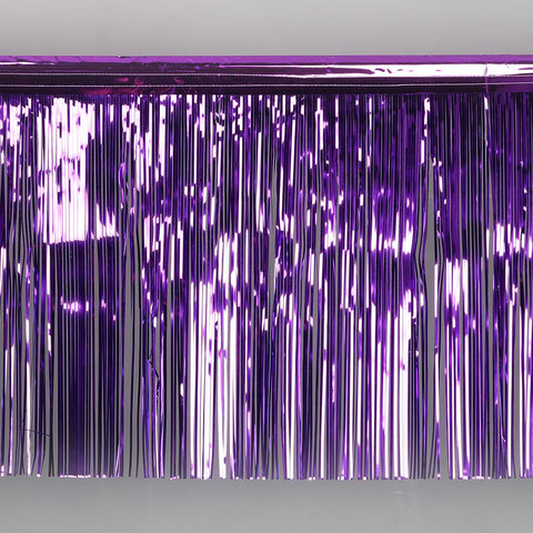 purple fringe tinsel 50cm drop 2.5m wide