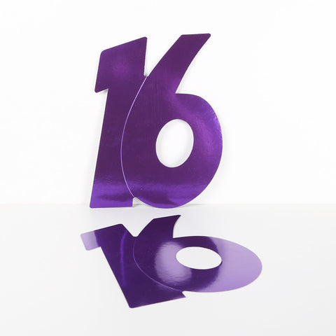 28cm Foilboard Number 16 Purple