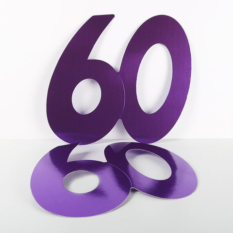 14cm Foilboard Number 60 Purple