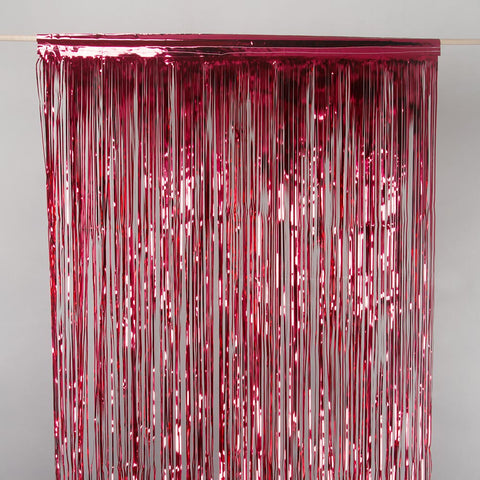 Red Metallic metallic drap door curtain