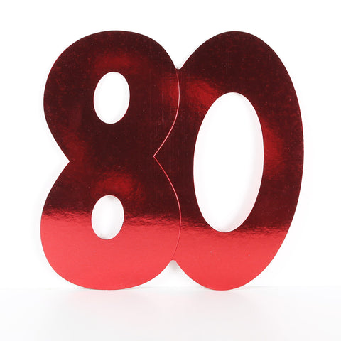 28cm Foilboard Number 80 Red