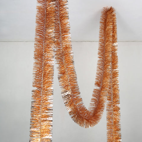 Rose Gold 4 Ply Tinsel Garland - 100mm x 5.5m