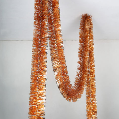 Rose Gold 6 Ply Tinsel Garland - 100mm x 10m