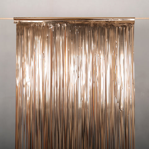 Rose Gold Metallic Door Curtain 2.0m Drop x 90cm wide