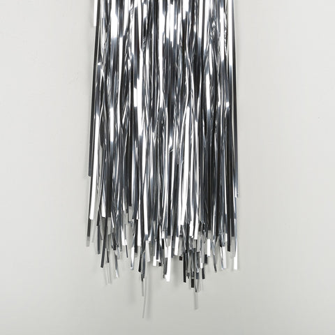 silver tinsel curtain 4m drop 1m wide
