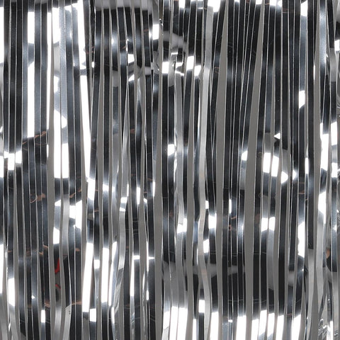 silver tinsel curtain 3m drop 1m wide