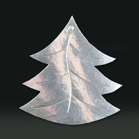 6 Pack 11cm Foilboard Christmas Tree Silver