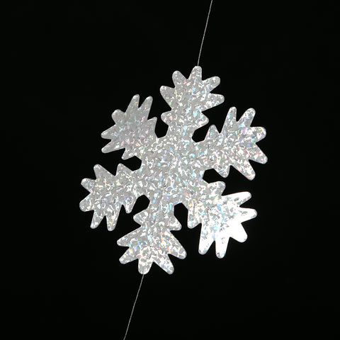 Holographic Snowflake Metallic String Garland zoom