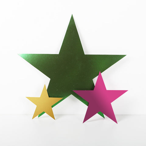 6 Pack 15cm Foilboard Star Green