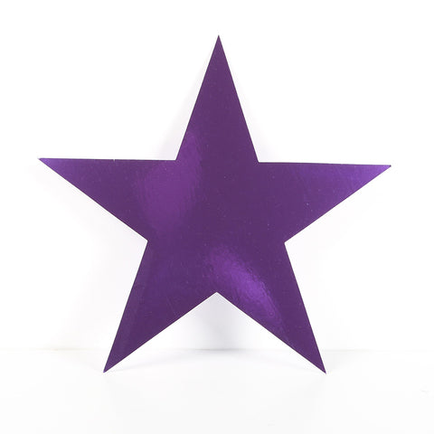 12 Pack 10cm Foilboard Star Purple