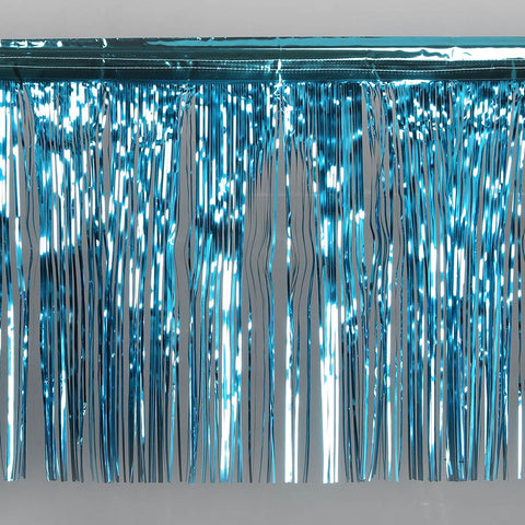 teal fringe tinsel 50cm drop 2.5m wide