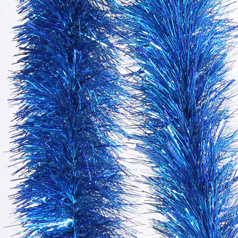 Blue 4 Ply Tinsel Garland - 150mm x 5.5m