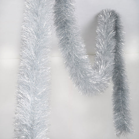 silver 4 ply tinsel 100mm x 10m