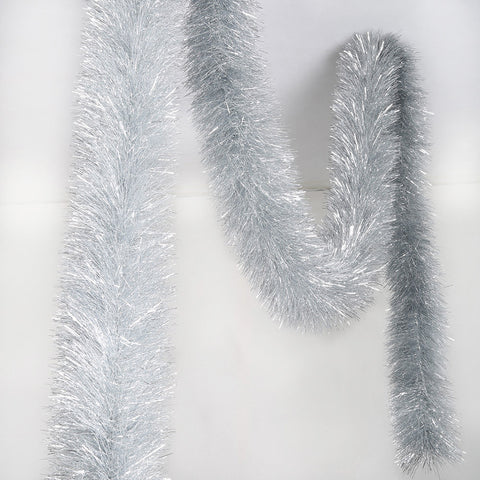 silver deluxe tinsel 100mm x 5.5m