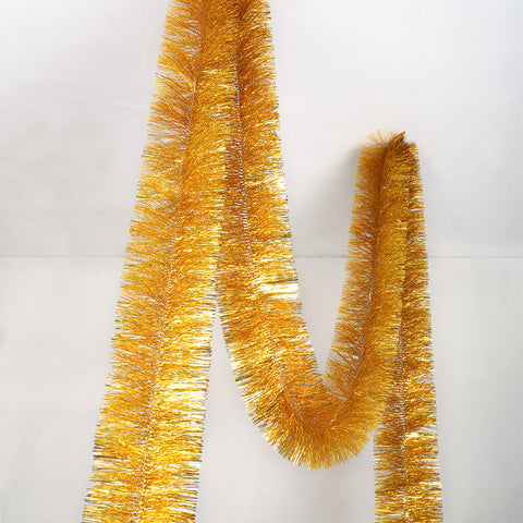 Gold 4 Ply Tinsel Garland - 150mm x 5.5m