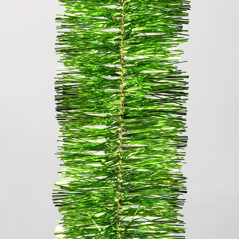 Lime 4 Ply Tinsel Garland - 100mm x 5.5m