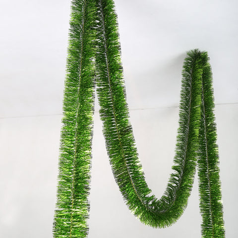lime deluxe tinsel 100mm x 5.5m